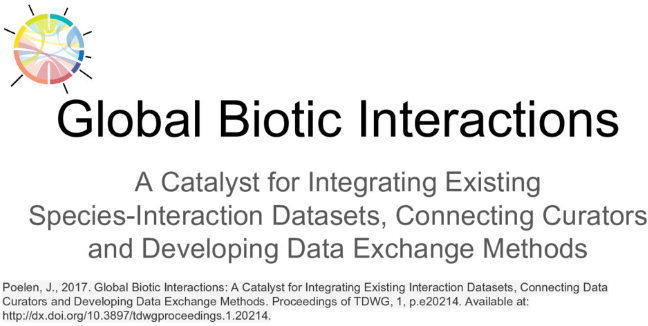 TDWG 2017 Global Biotic Interactions: A Catalyst